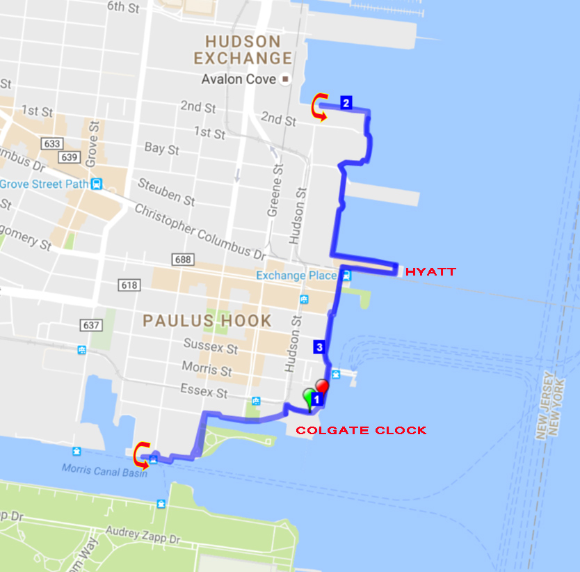 JCT Run Course Citytri - Hudson river on us map